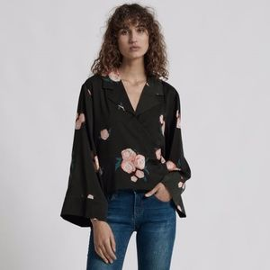 One Teaspoon Quartermaster shirt wrap top S